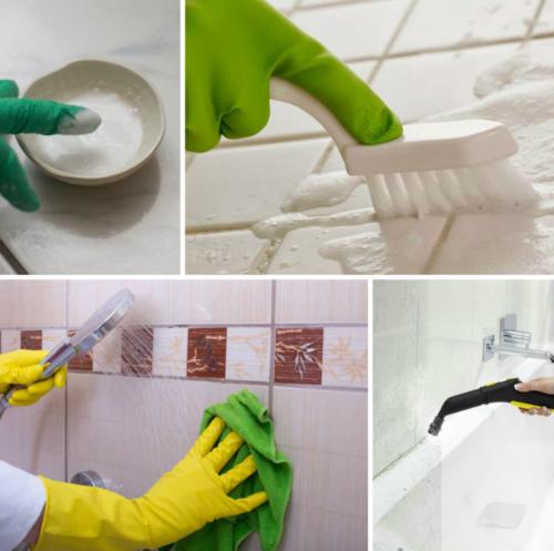 Чем отмыть плесень в ванной на швах плитки