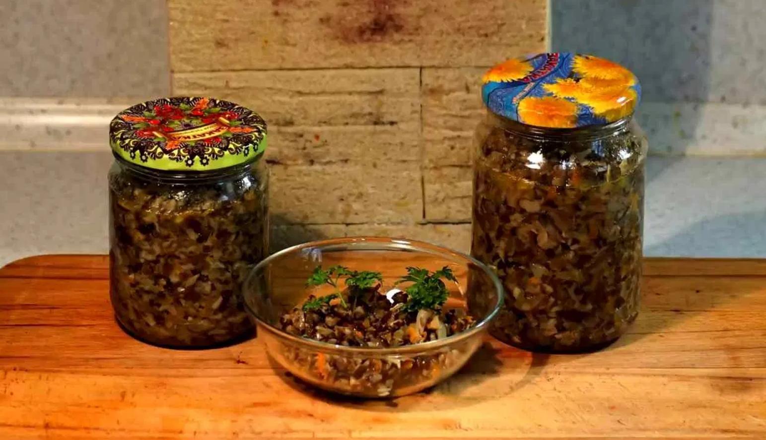 Икра из грибов опят на зиму рецепты с чесноком